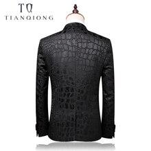 TIAN QIONG 2018 Men Groom Wedding Suit Slim Men Suit Latest Coat Pant Designs Fashion Dress Luxury Tuxedo Men Blazers 2 Pieces