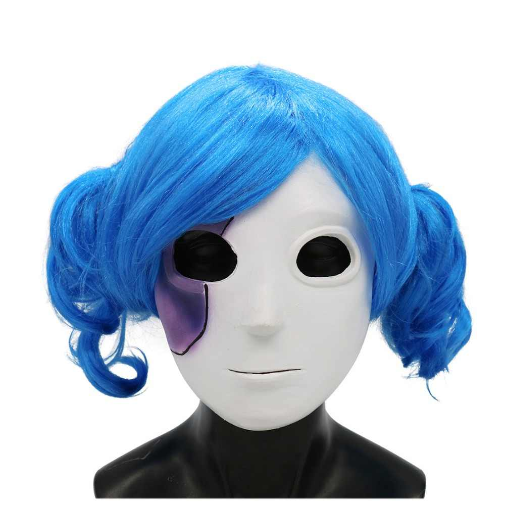 Game Sally Face Cosplay masks Sally Face Latex Masks Wig Costume prop Adult Halloween Cosplay  props