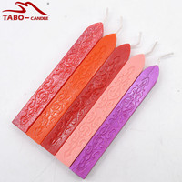10 Pcs Wonderfully Bright 32 Color Sealing Wax Sticks with Wicks for Decorative Wedding Invitations Wax Seal Sealing Stamp
