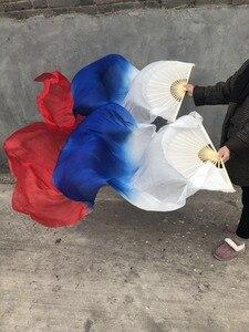 Image 3 - 新到着 1 ペア (1L + 1R) ベリーダンスリアルシルクベール 100% シルクファンベールクラシックための大人栗色開始