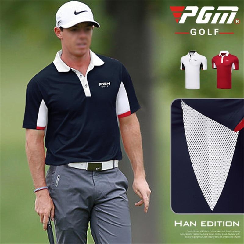 2019 Golf Shirts Mens Short Sleeve Polo Shirt Sport Golf Wear Man Turn Down Collar Sportwear Tennis T Shirt Clothing Asian Size