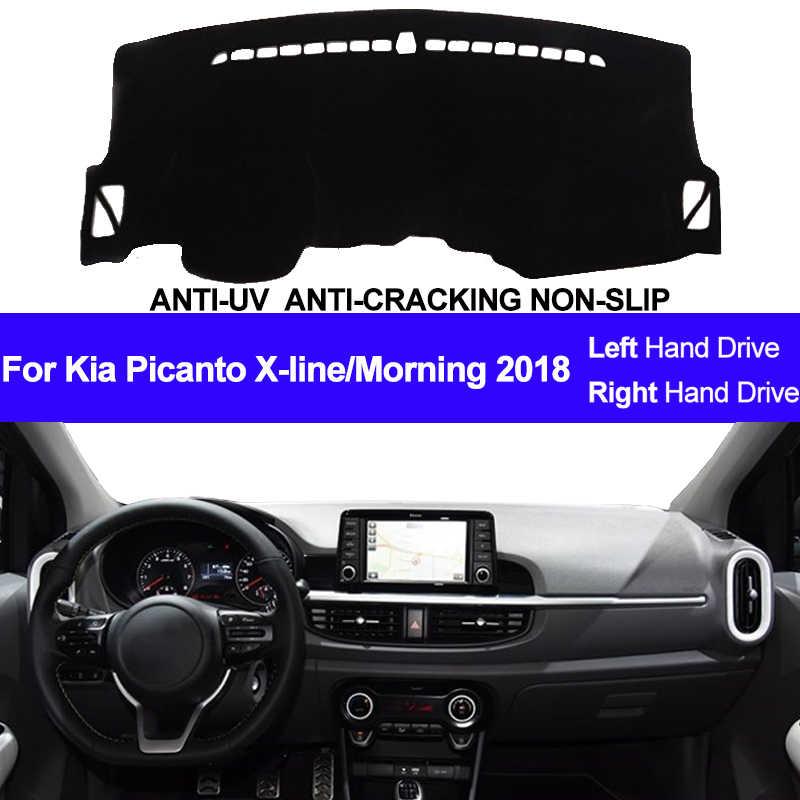 Dashboard Mobil untuk Kia Picanto X-Line/Pagi 2018 Dash Board Dash Mat Pad Karpet Penutup Otomatis pad Rug Sun Shade Dashmat