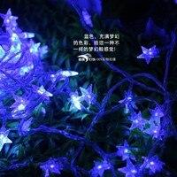 DHL 100m 600 Five pointed Stars LED Light String Strip Garland For Christmas Wedding Party Home Room Decoration 110V/220V