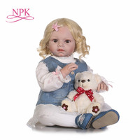 NPK 70cm Soft Silicone Girl Princess Dolls Lifelike Newborn Babies Alive Bebes Reborn Baby for Child Play House Bedtime Toy Gift