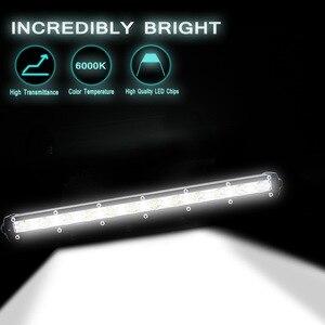 Image 3 - 13 Inch 36W Led Light Bar Combo Flood Spot Beam Work Fog Headlights Spotlights 6000K Modified Off road Lights Roof Light Bar