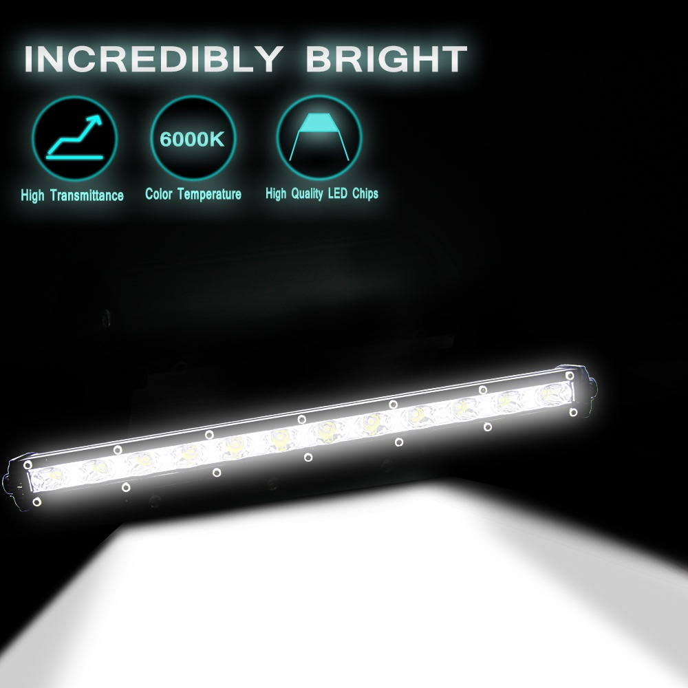 Image 2 - 13 Inch 36W  Led Light Bar Modified Off road Lights Roof Light Bar Combo Flood Spot Beam Work Fog Headlights Spotlights 6000K-in Light Bar/Work Light from Automobiles & Motorcycles