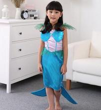 The Little Mermaid Costume Girls Fancy Princess Cosplay Dresses Size Fashion Girls Dress