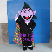 Halloween Devil Mascot Vampire Count Costume  Dracula Cosplay Theme Mascotte Carnival Fancy Party Dress