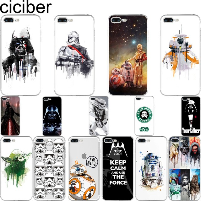 Star Wars R2D2 BB-8 Stormtrooper Darth Vader Soft Silicone iPhone Case (15 Styles)
