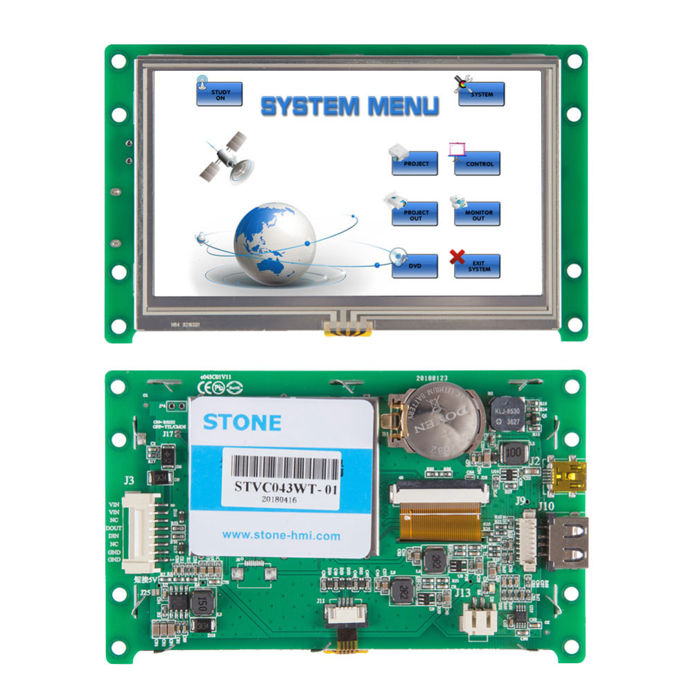 4.3 Inch TFT LCD Monitor Can Be Controlled By Any MCU