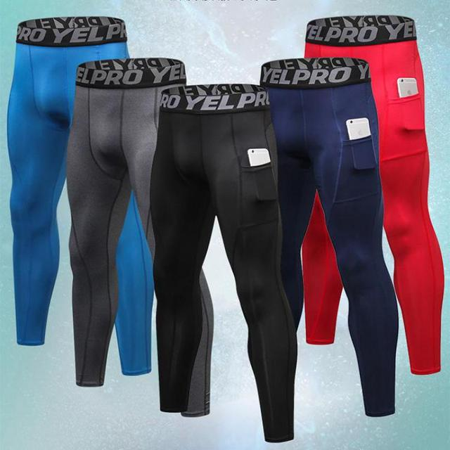 479689e6c New GYM Compression Sweat Pants Bodybuilding Pantalones Hombre Fitness  Tights Trousers Men Sport Running Leggings With