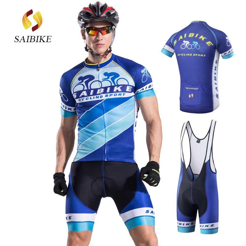 saiBike wielertruien heren ropa ciclismo maillot zomer ademende kleding fietskleding wielrennen zomer heren sets