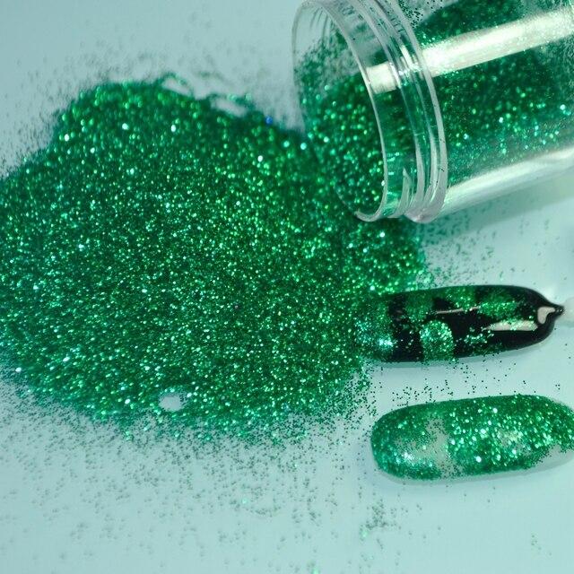 Brillante verde bosque Manicura pigmento paillete polvo acrílico ...