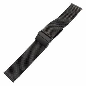 Image 3 - 밀라노 시계 밴드 버터 플라이 버클 스트랩 디젤 화석 Timex 아르마니 DW CK 시계 밴드 스테인레스 스틸 벨트 18mm 20mm 22mm