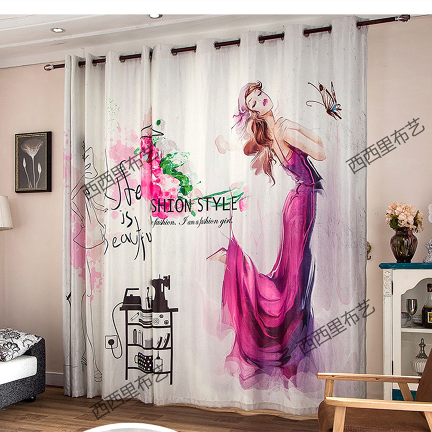 Buy new blackout curtains fabric 3d for Fabrics for children s rooms