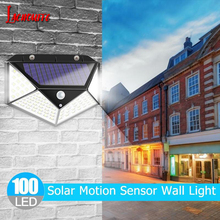 30/100 LED Solar Light Motion Sensor Outdoor Waterproof IP65 Wall Light Fence Stair Pathway Solar LED Lamp Dropshipping