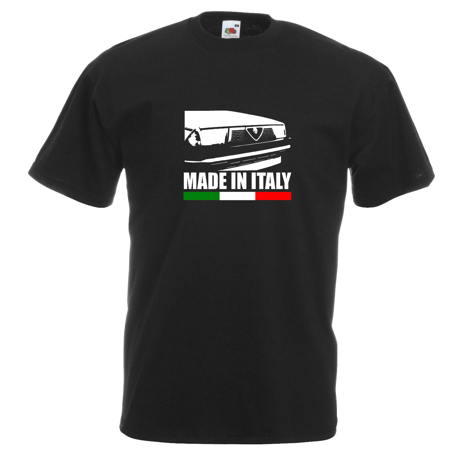 2018 Summer New Cool Tee Shirt Italy Car Romeo 75 Retro Car Motoring  Inspired T Shirt Tee T-shirt Dad Gift Cotton T-shirt
