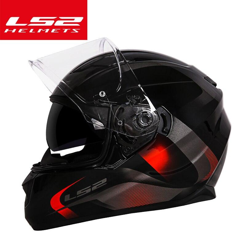 D'origine LS2 ff328 Flux double lentille moto cycle casque intégral moto rcycle casques avec pare-soleil interne casque moto LS2 Capacete