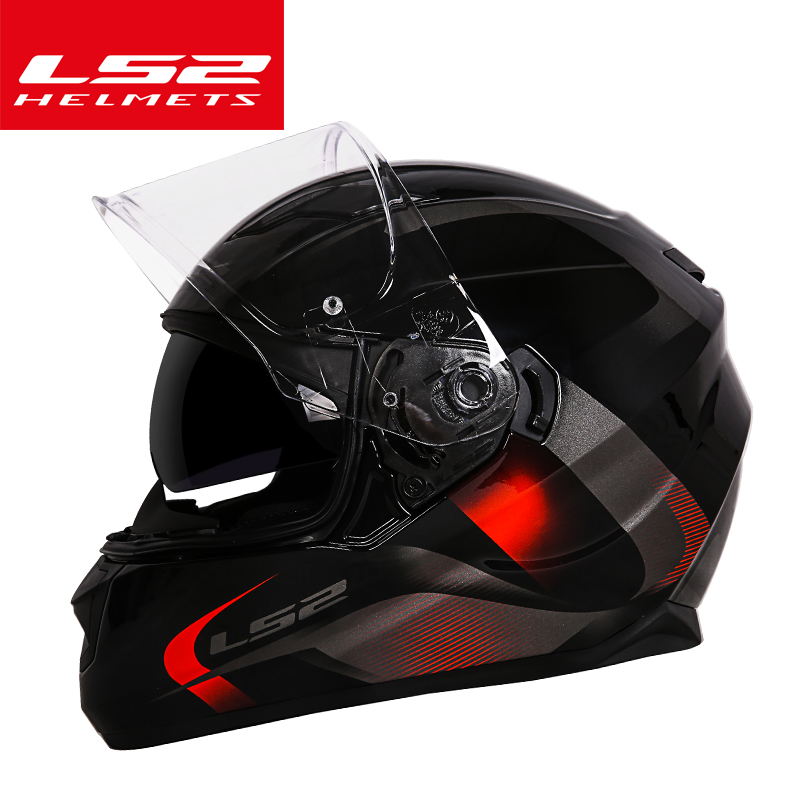 Original New Genuine helmet LS2 ff328 dual lens motocycle helmet full face motorcycle helmet with inner sun visor casque helmet видеокарта 4096mb gigabyte geforce gtx1050 ti pci e 128bit gddr5 dvi hdmi dp hdcp gv n105tg1 gaming 4gd retail