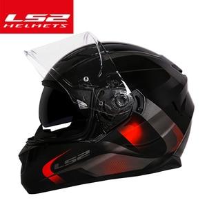 Original New Genuine helmet LS2 ff328 dual lens motocycle helmet full face motorcycle helmet with inner sun visor casque helmet