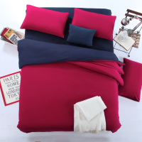 4pcs/set Beding Set Twin Double Queen King Size Bed Cover Solid Color Sheet 2pcs Pillowcase /1Quilt/1Duvet Cover bedspreads