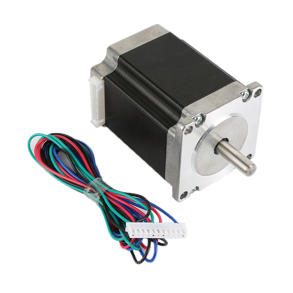 57sterp Mini Stepper Motor Nema 23 45mm 4-wire 0.8Nm 2A 115oz-in 2-Phase Bipolar For 3D Print CNC Router Kit china stepper motor nema34 12nm 1714oz in 2 phase 4 2a d 15 87 86hs120 for cnc engraving machine