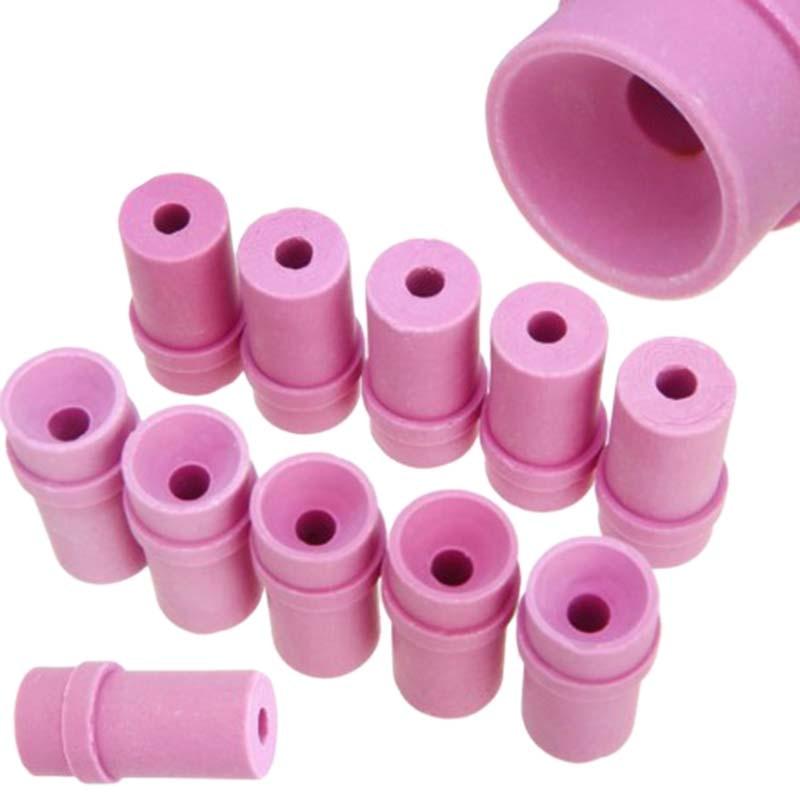 10Pcs Ceramic Sandblast Nozzle Air Sandblaster Tips For Pneumatic Blasting Tools 2x1.5x4Cm Metalworking Sand Blasting Nozzle