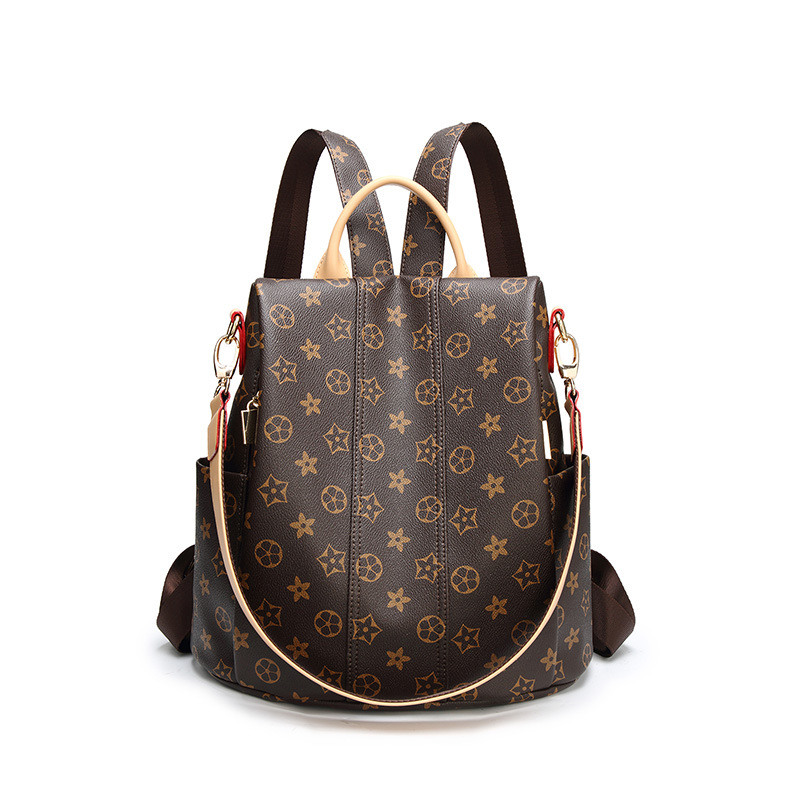 Double Shoulder Bag, Hot Style Mummy Bag, Spring And Summer Printing Multi-function Female Bag +adjustable Classic Backpack