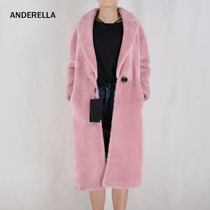 Женский кожа ягненка пальто с мехом мягкие женские дубленки пальто кожи ягненка с отложным воротником Женская с длинными рукавами зимняя т