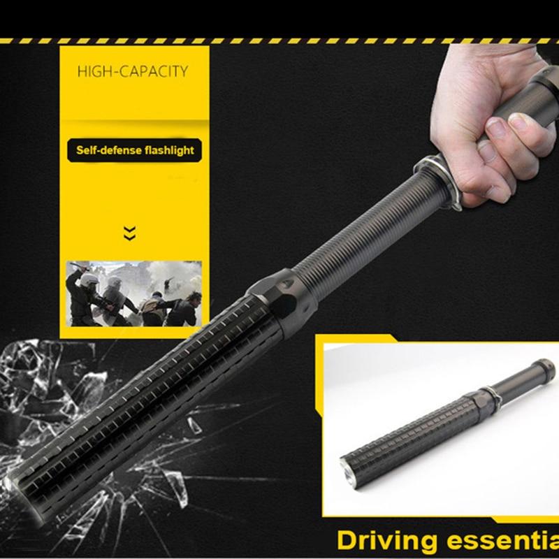 Police Cree xml Q5 3 Mode 2000 lumen flashlight adjustable baton 41cm self defense torch light lanterna by 18650/AAA  Tactical