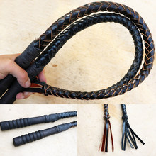 70CM & 80CM Hand Made Braided Riding Whips For Horse Racing Cowhide Leather Equestrian Horse Whip Equestrian Equipment(China)