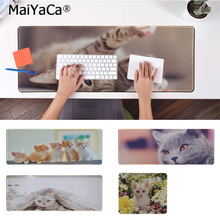 MaiYaCa Your Own Mats Cute Cat Large Mouse pad PC Computer mat Free Shipping Pad Keyboards Mat