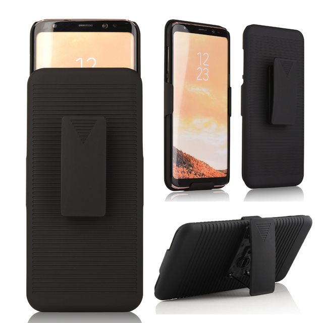 on sale 2df42 2b437 US $6.32 20% OFF|S8plus case 2 in 1 Swivel Belt Clip Holster Stand Phone  Cases For samsung galaxy S8 plus S8+ hard plastic phone slide cover-in  Fitted ...