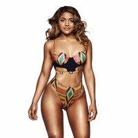 New Sexy African Swimwear Digital Print Bikini Set Bohemia Style Hot Geometric Biquinis Women Beach Wear