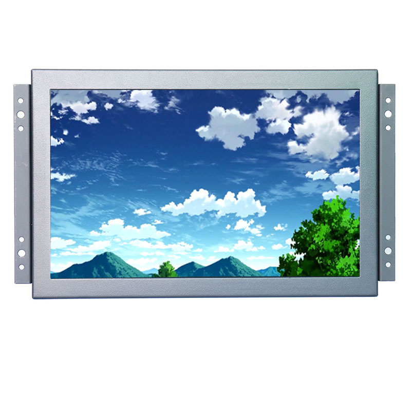 KF1016 10.1 Inch open frame lcd monitor with resolution 1280*800 16:9 wide screen monitor 8 4inch 8 4 non touch industrial control lcd monitor vga interface white open frame metal shell tft type 4 3 800 600