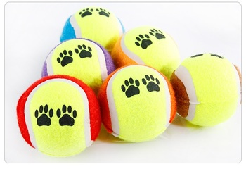 100pcs Dog Toys Throwing Tennis Ball Pet Supplies Bite Resistant 6.5cm Chew Toy Training Balls wa3660