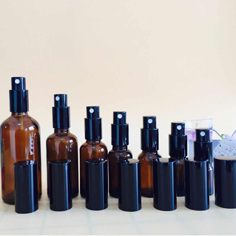5 ml/10 ml/15 ml/20 ml/30 ml/50 ml/100 ml doldurulabilir basın pompası cam sprey şişe yağları sıvı konteyner parfüm Atomizer seyahat 20 #
