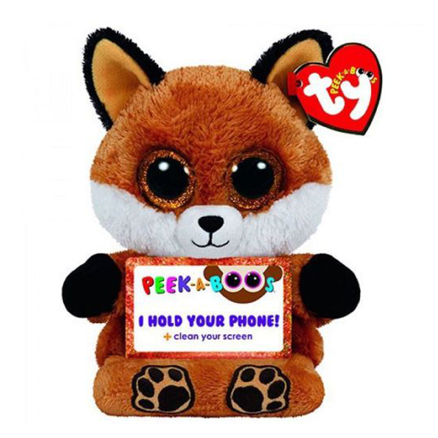 9c423ef4f71 Ty Peek-A-Boo Phone Holder with Screen Cleaner Bottom Sly the Fox Plush