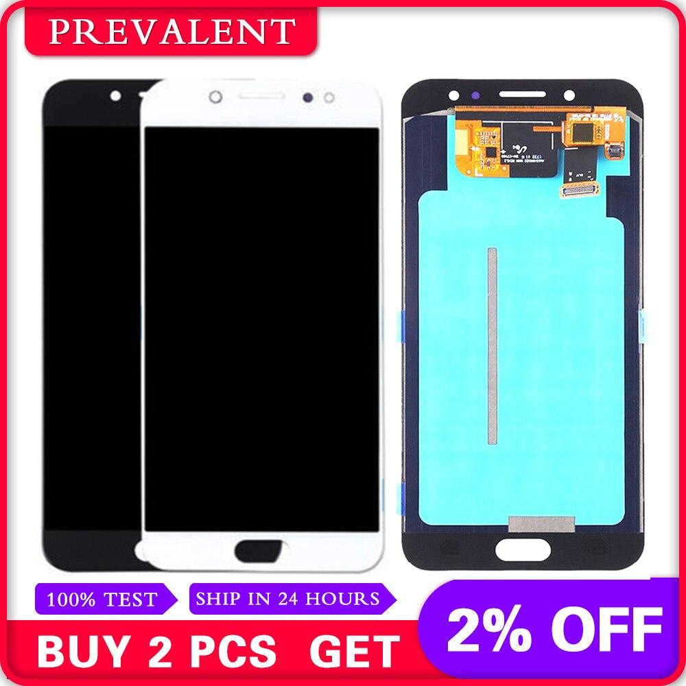 Pour Samsung Galaxy C7 2017 C710 C7100 C710F/DS J7 PLUS C8 LCD Panneau D'affichage Module + Écran Tactile digitizer Assemblée Capteur