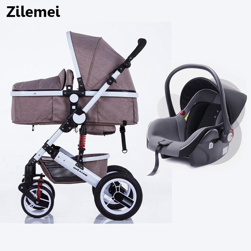 Oley poussette haute paysage peut s'asseoir ou de s'allonger choc hiver enfants bébé poussette avec siège de voiture livraison gratuite à la russie