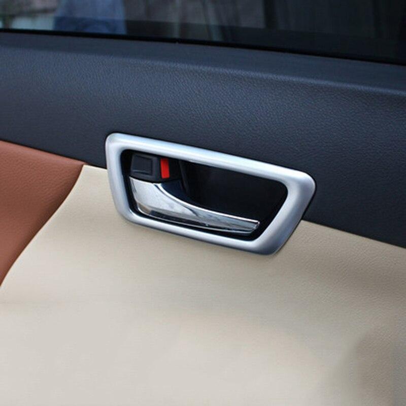 Автомобиль Стайлинг для Toyota Camry 2015 интерьер дверные ручки чаши Крышка планки украшения кадров 4 шт. не подходят для американских модель авто...