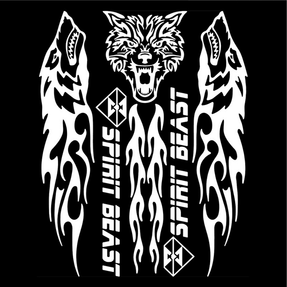 SPIRIT BEAST Reflective 3D Motorcycle Sticker Fuel Oil Tank Pad For Yamaha etc