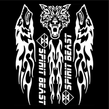SPIRIT BEAST Reflective 3D Motorcycle Sticker Fuel Oil Tank Pad Decal Protector Cover Black Sliver Universal For Yamaha etc