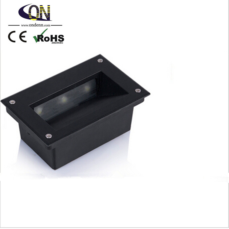 Led Lamps 3*2w Super Bright Led Underground Light Skirting The Footlights Stair Lights Square Buried Lamps Ip67 6w Outdoor Led Step Light Led Underground Lamps