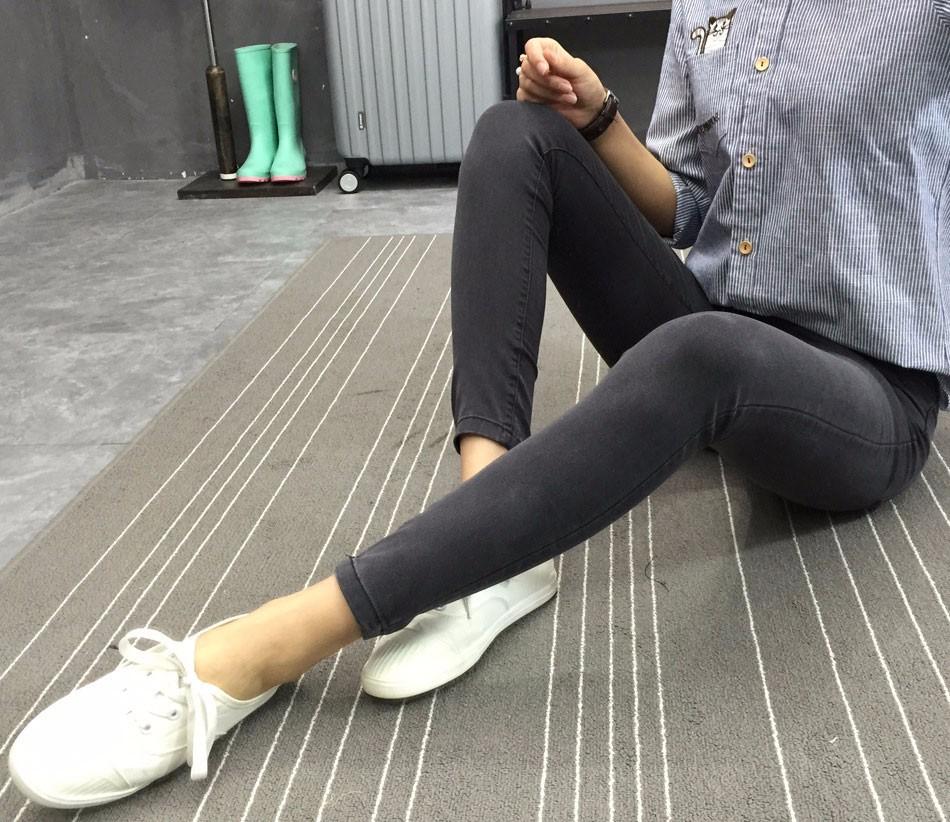 BIVIGAOS Basic Skinny Womens Jeans Ankle Pencil Pants Slim Elastic Denim Pants Jean Leggings Female Cotton Jeggings Jeans Women 26