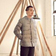 Китай 2016 Новый Стиль Зимней Моды мужская Повседневная Теплый Пальто Хлопка Китай Плиты Кнопки Ретро Стиль Куртка Прилив My137