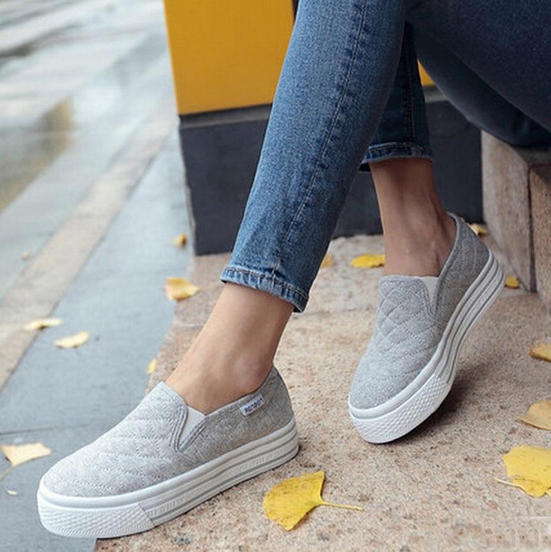White Slip On Canvas Shoes Bulk