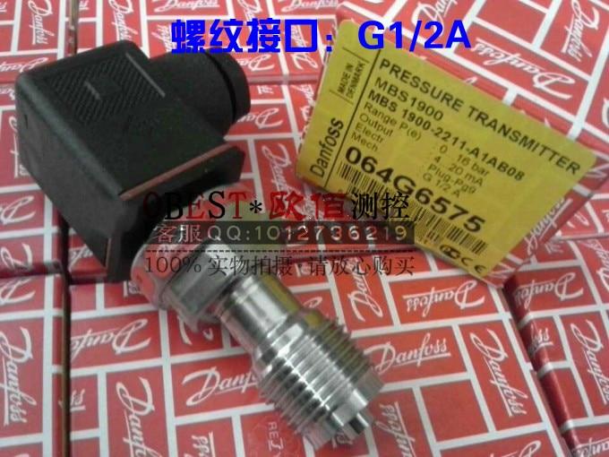 Danfoss pressure transmitter MBS1900 0646567 064G6575 064G6524 thread: G1/2 danfoss pressure transmitter mbs1900 064g6586 064g6585 constant pressure water supply pressure sensor