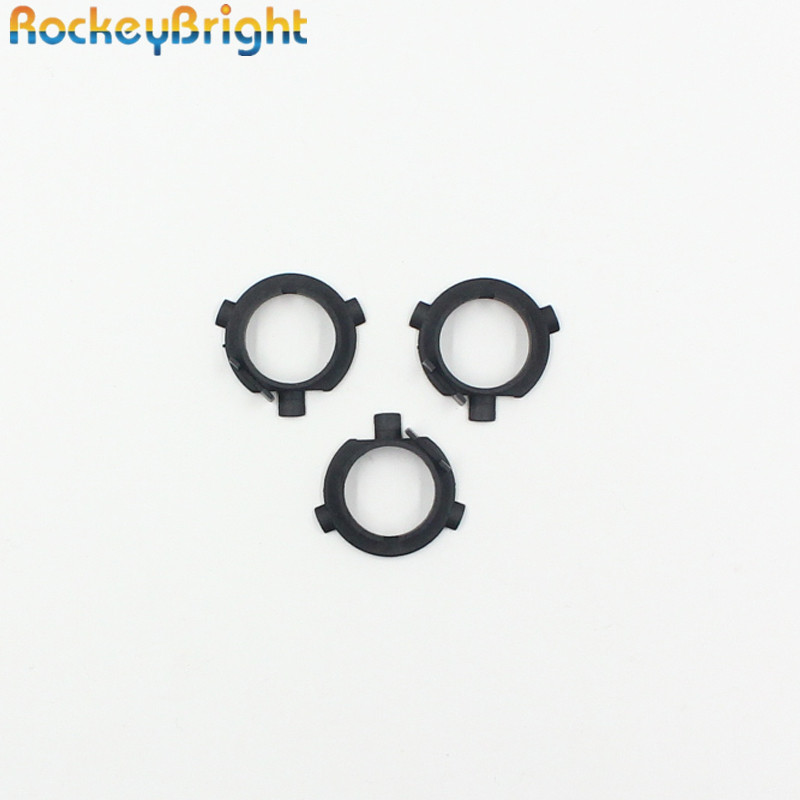 Rockeybright 2*LED H7 Bulb Holders Adapters Lamp Base H7 LED Headlight H7 Adapter For Hyundai Veloster Santa Fe For KIA K3 K4 K5