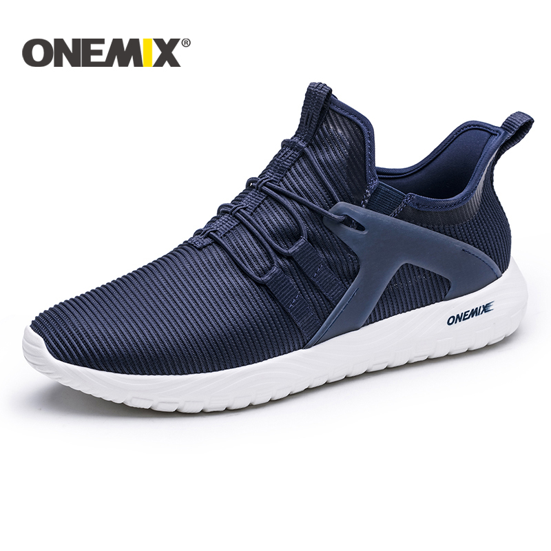 все цены на Onemix 2018 New lightweight running shoes men breathable mesh sneakers for outdoor walking trekking shoes women sports sneakers онлайн